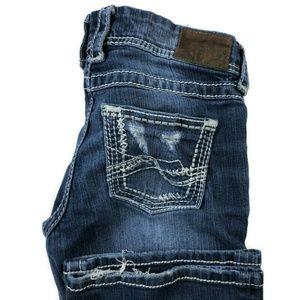 BKE Buckle Stella Flare Dark Wash Jeans